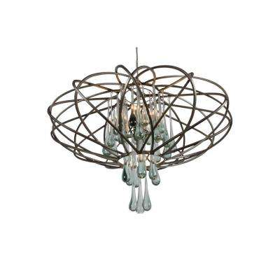 Area 51 5-Light New Bronze Integrated G9 LED Pendant