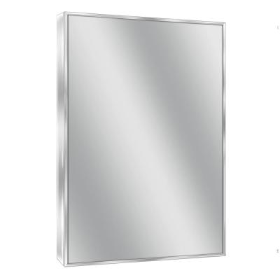 Spectrum 22 in. W x 34 in. H Metal Framed Wall Mirror in Chrome