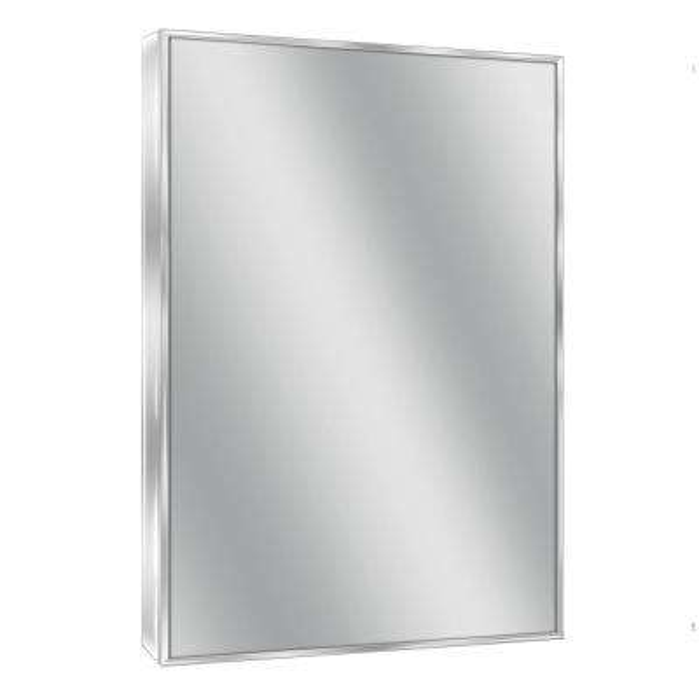Spectrum 22 in. W x 34 in. H Metal Framed Wall Mirror in Chrome