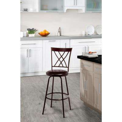 Northland Adjustable Height Brown Swivel Cushioned Bar Stool