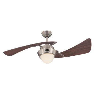 Harmony 48 in. LED Brushed Nickel Ceiling Fan with Light Kit