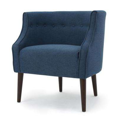 Raphael Navy Blue Fabric Club Chair