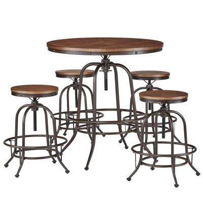 Olson 5-Piece Brown Bar Table Set