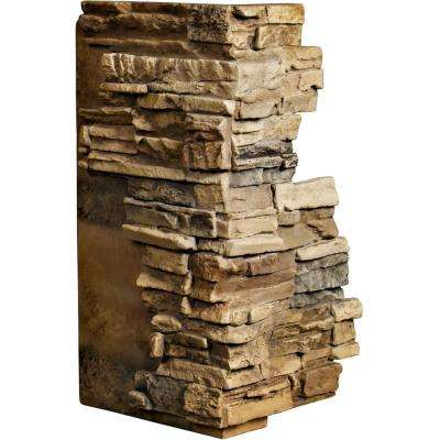 1-1/2 in. x 13-3/4 in. x 25 in. Saturn Urethane Stacked Stone Outer Corner Wall Panel