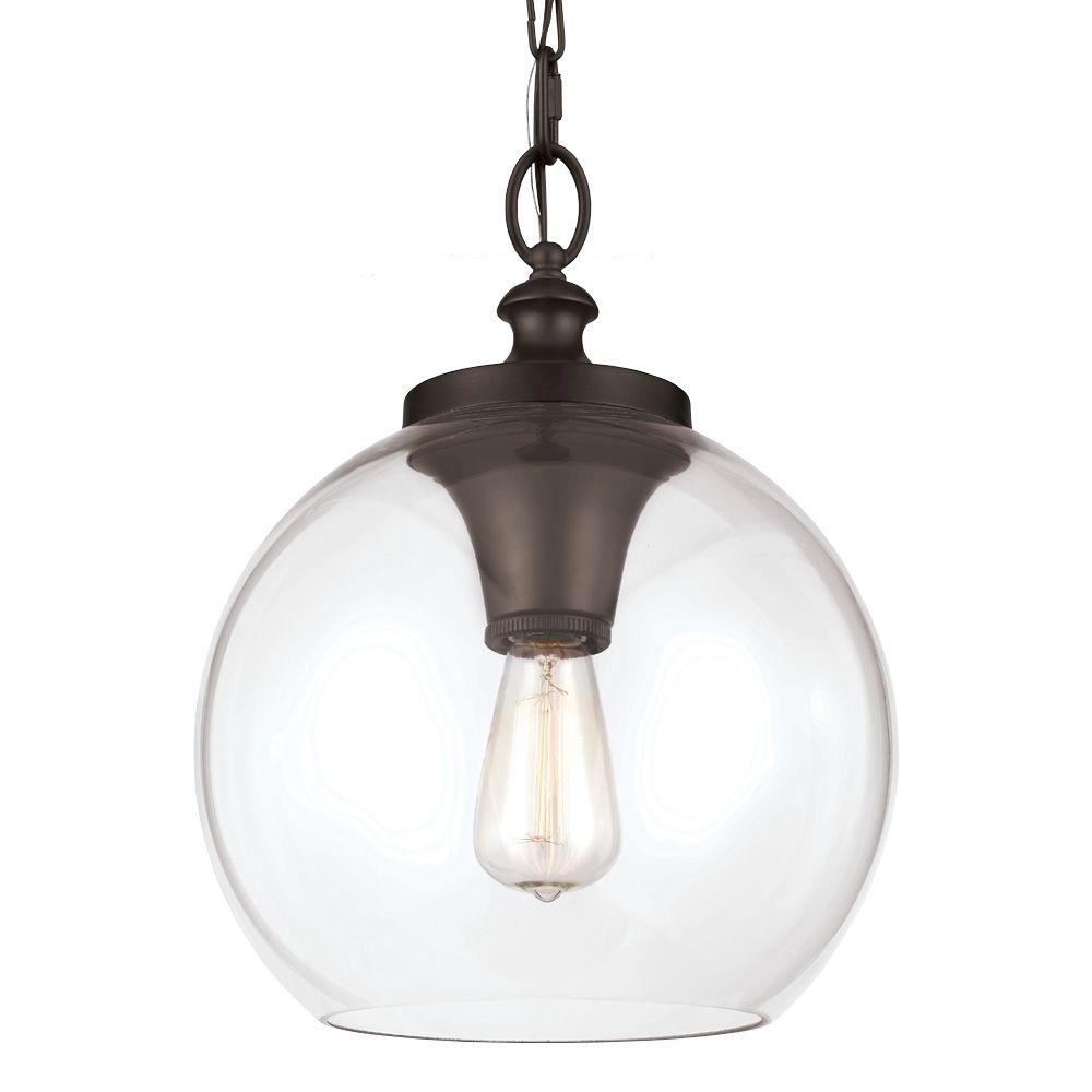 W 1 Light Oil Rubbed Bronze Pendant