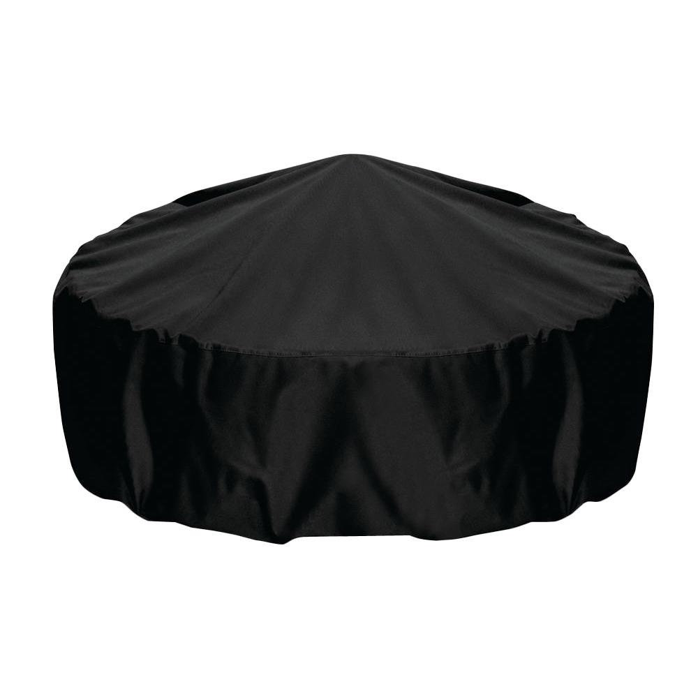 Two Dogs Designs 48 in. Fire Pit Cover in Black
