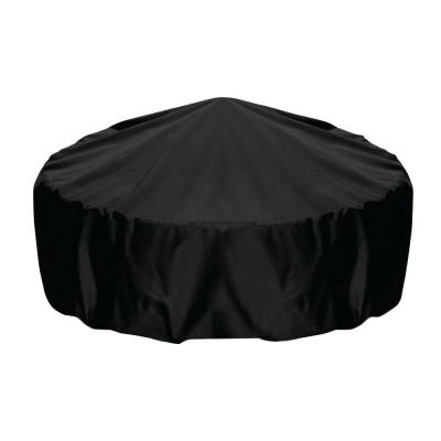 48 in. Fire Pit Cover in Black