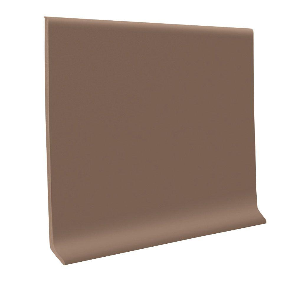 ROPPE Toffee 4 in. x 120 ft. x 1/8 in. Vinyl Wall Cove Base Coil