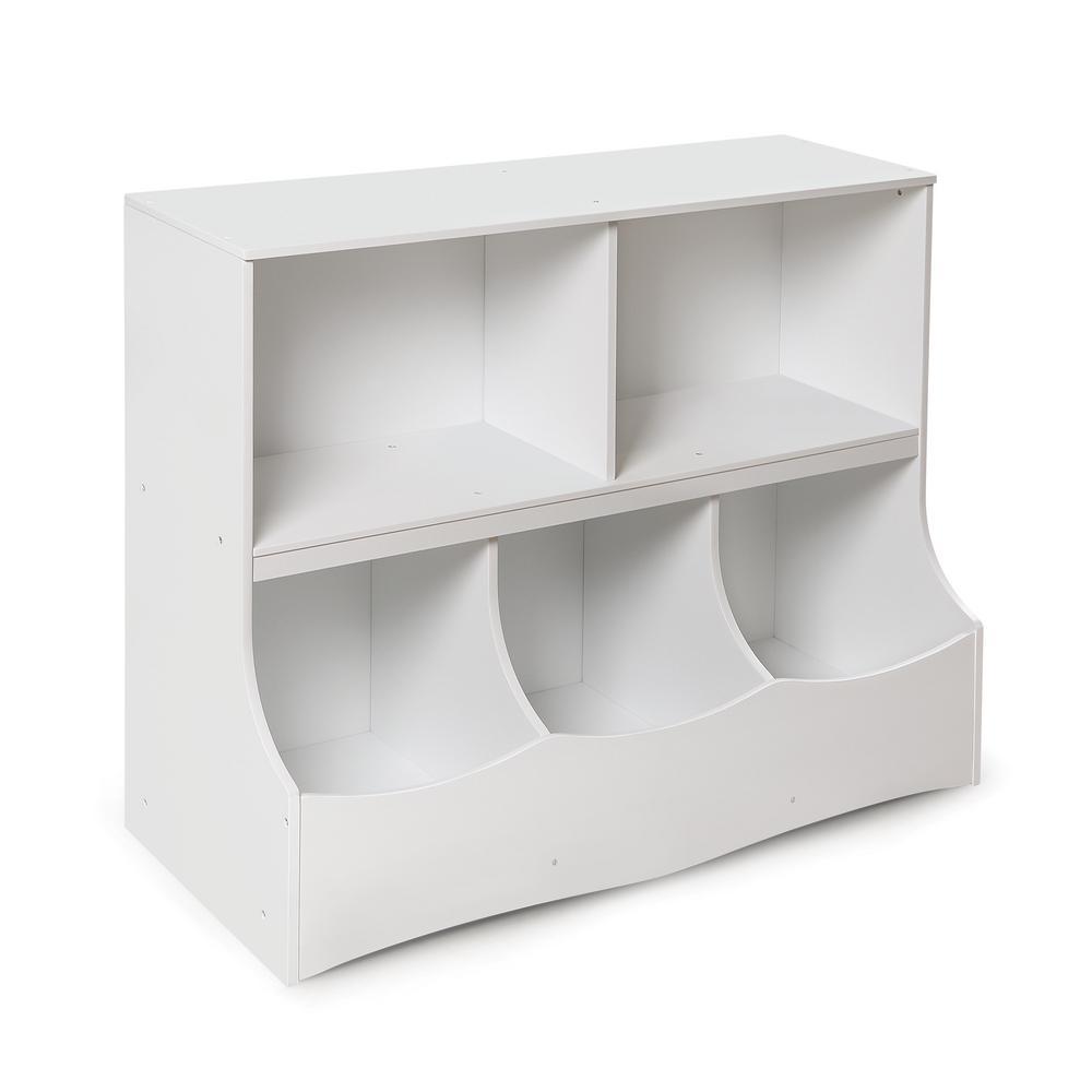 Multi-Bin 37 in. x 32 in. White 5-Cube Organizer