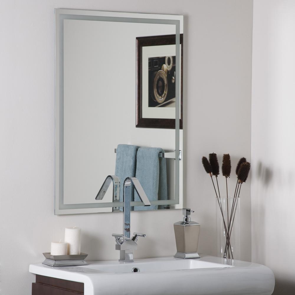 Decor Wonderland 10 in. W x 10 in. H Frameless Rectangular Bathroom Vanity  Mirror in Silver-DWSM10 - The Home Depot