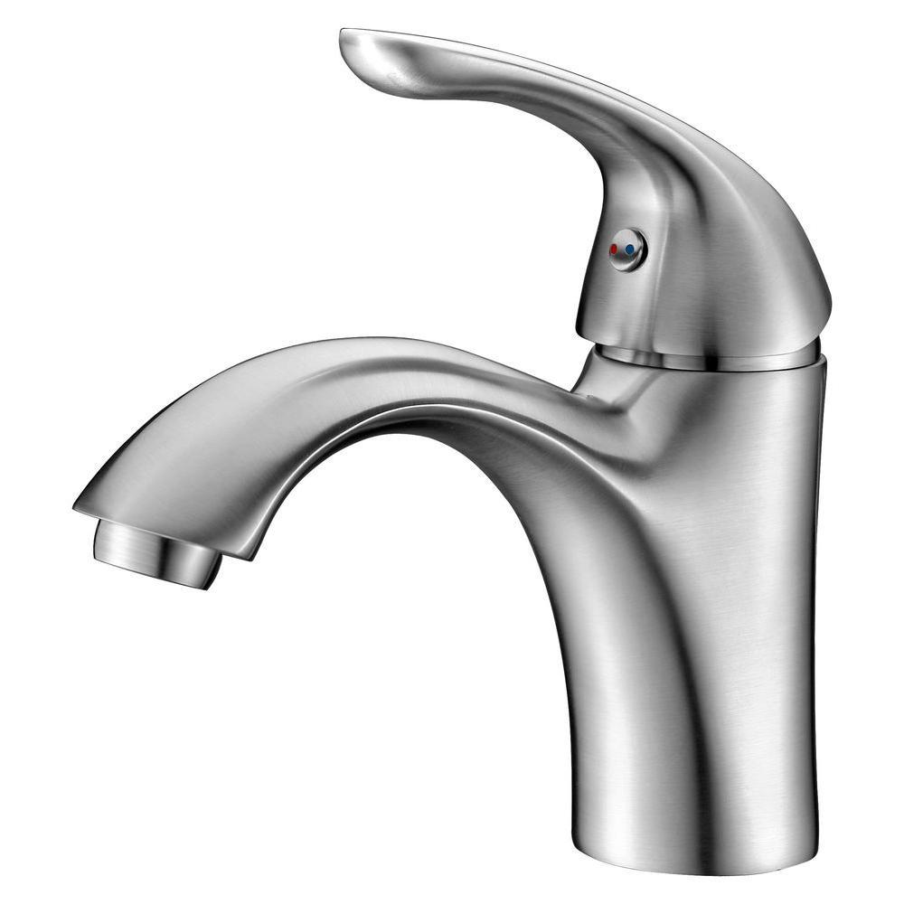 Clavier Series Single Hole Single-Handle Mid-Arc Bathroom Faucet in Brushed Nickel