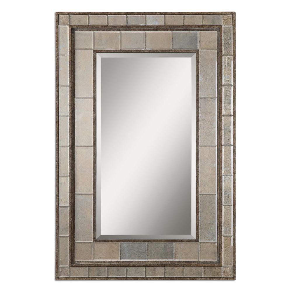 Home Decorators Collection 50 in. x 34 in. Rust Bronze Framed Mirror