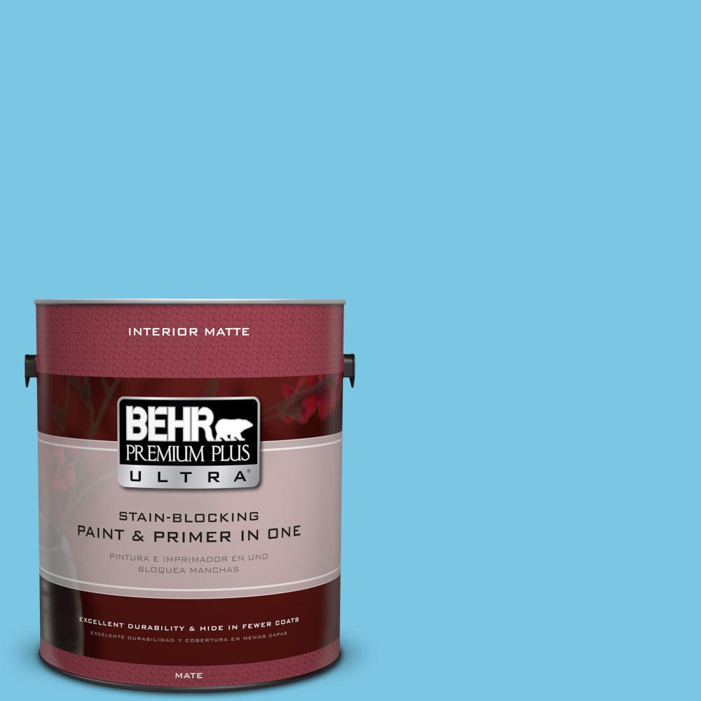 1 gal. #530B-4 Bliss Blue Flat/Matte Interior Paint