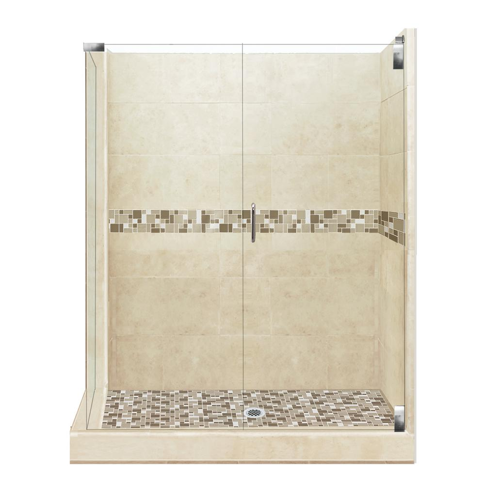 American Bath Factory Tuscany Grand Hinged 42 in. x 48 in. x 80 in ...