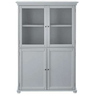 Hampton Harbor 36 in. W x 14 in. D x 52-1/2 in. H Linen Storage Cabinet in Dove Grey