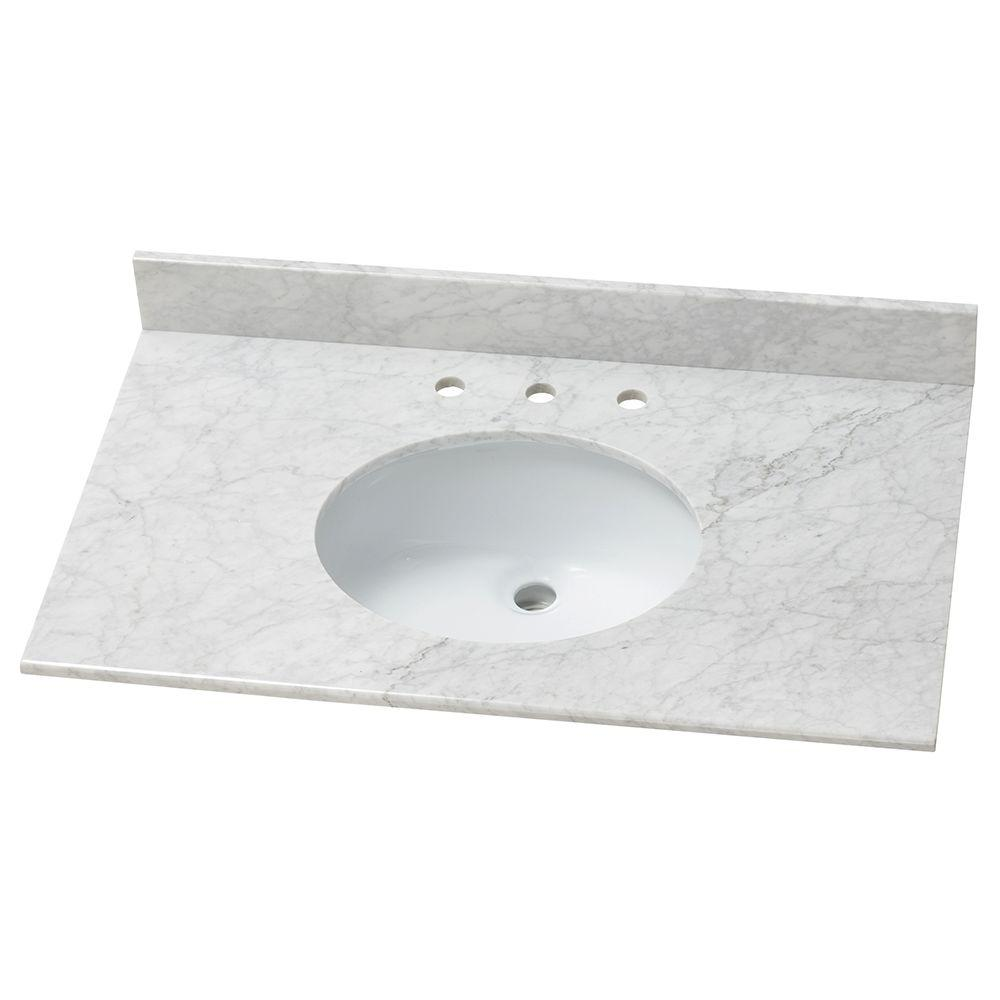 Home Decorators Collection 37 In W Stone Effects Vanity Top In