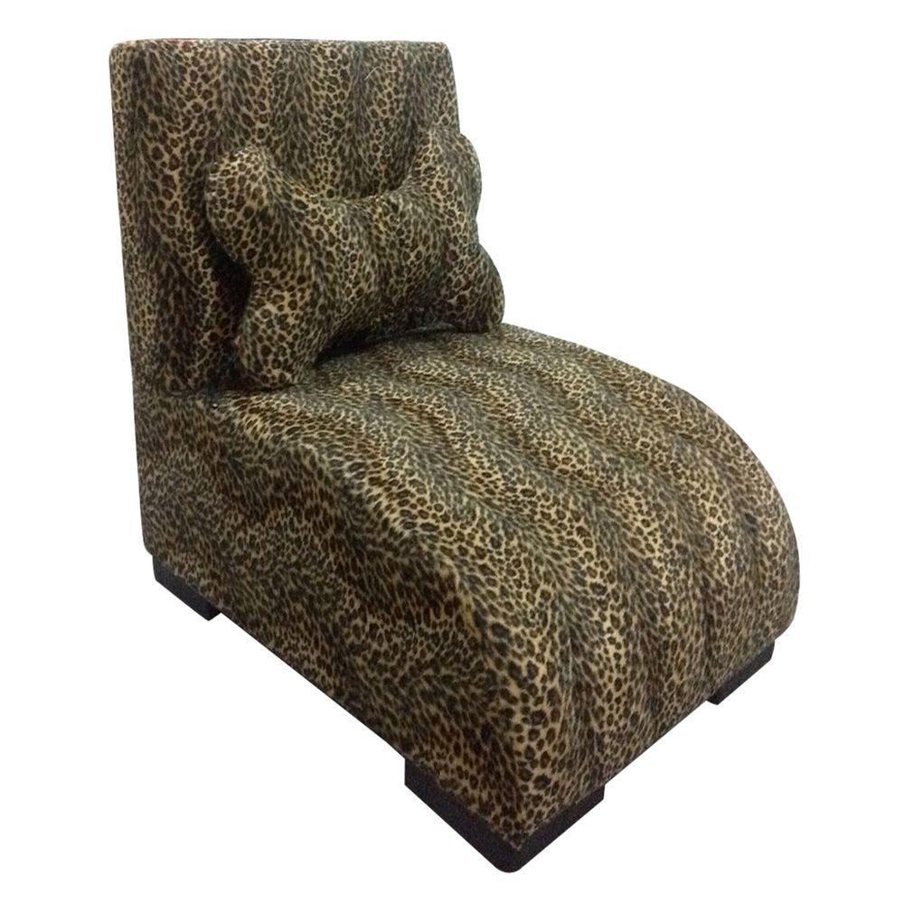 H Leopard Lounge Upholstered Pet Furniture