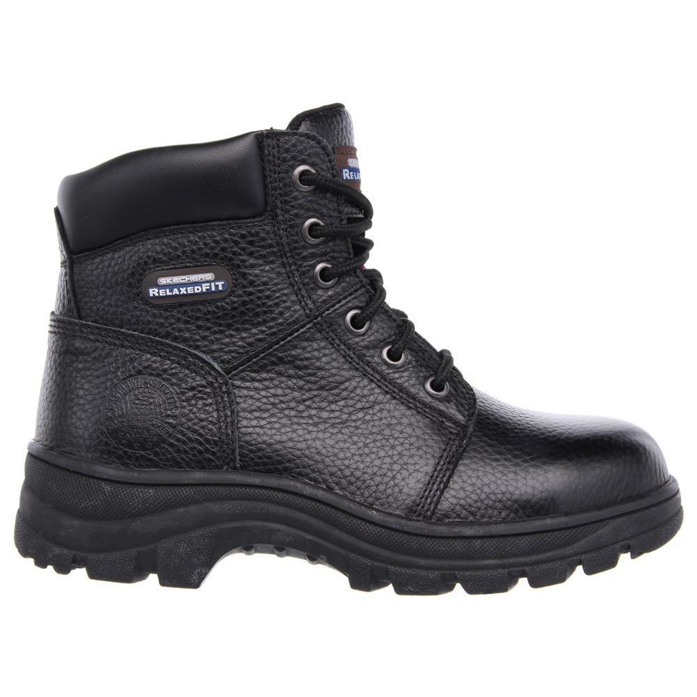 Work Boots - Steel Toe - Black Size