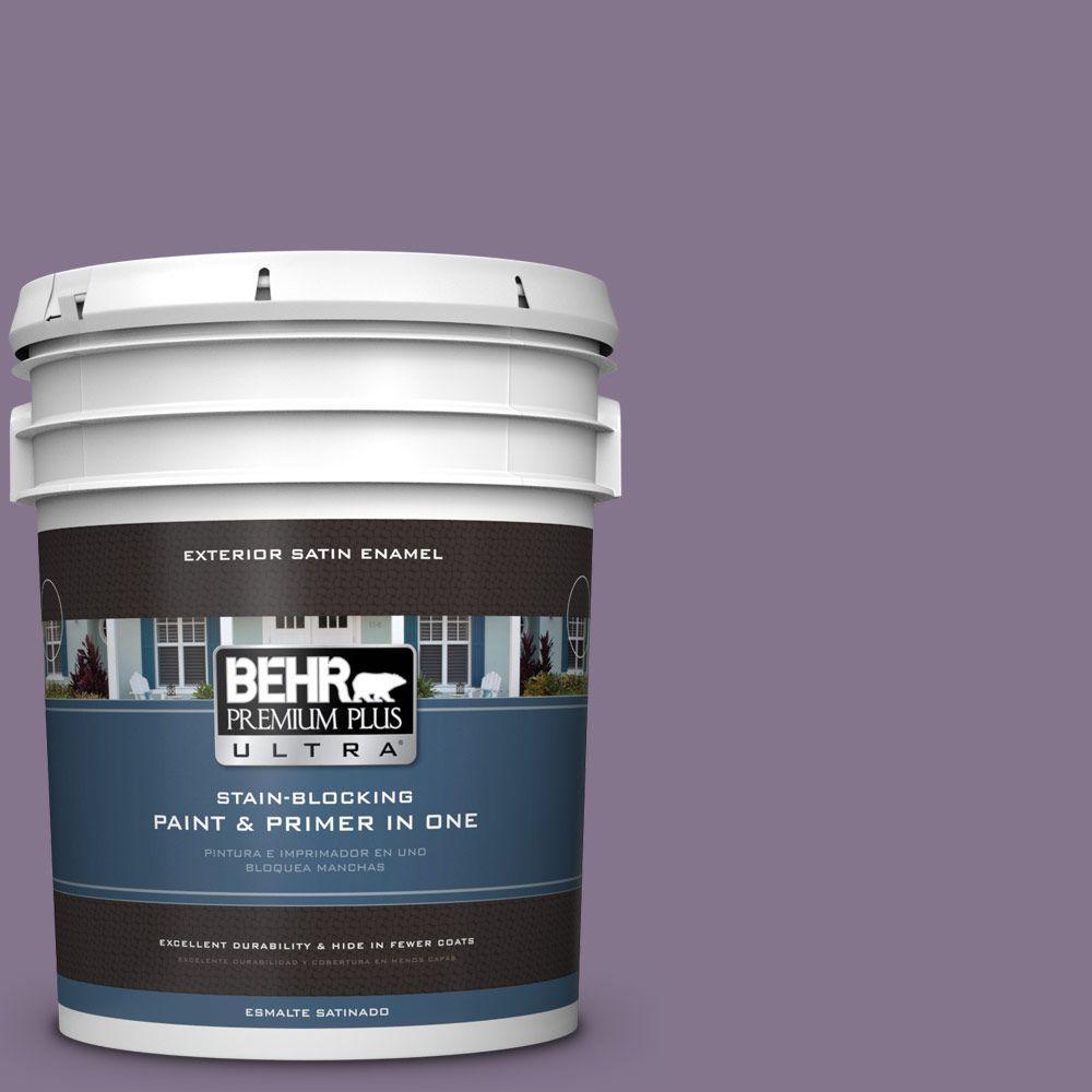 BEHR Premium Plus Ultra 5-gal. #S100-5 Purple Potion Satin Enamel Exterior Paint