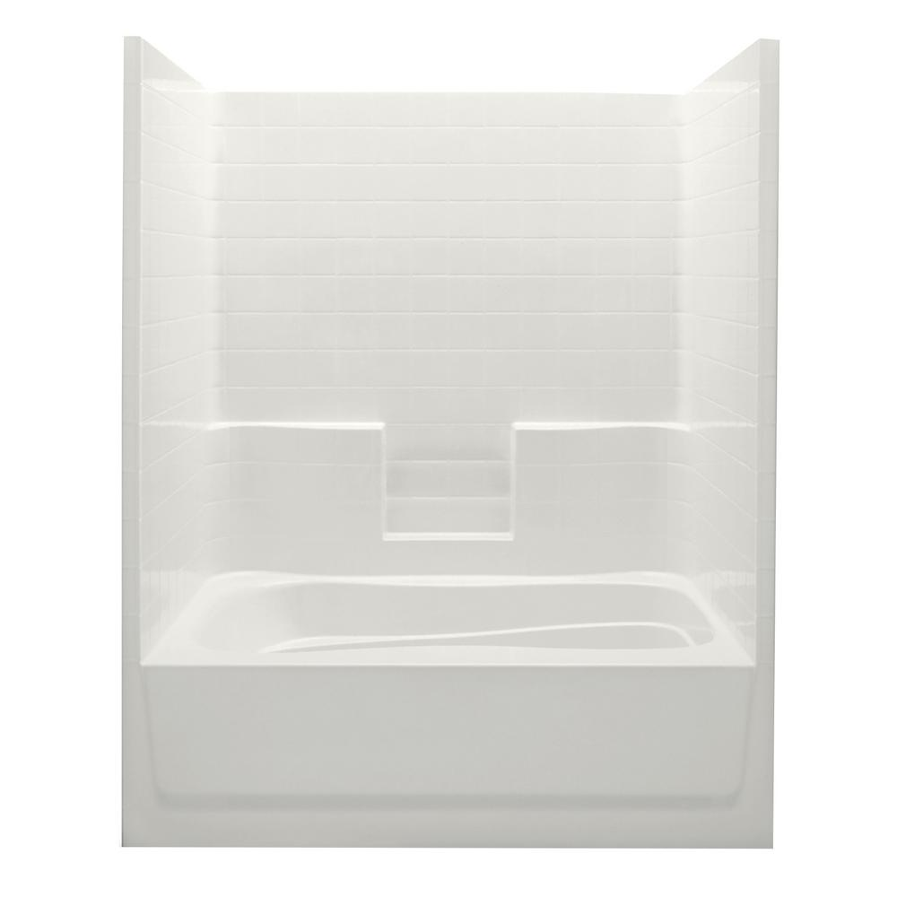 Everyday 60 in. x 42 in. x 74 in. 1-Piece Bath