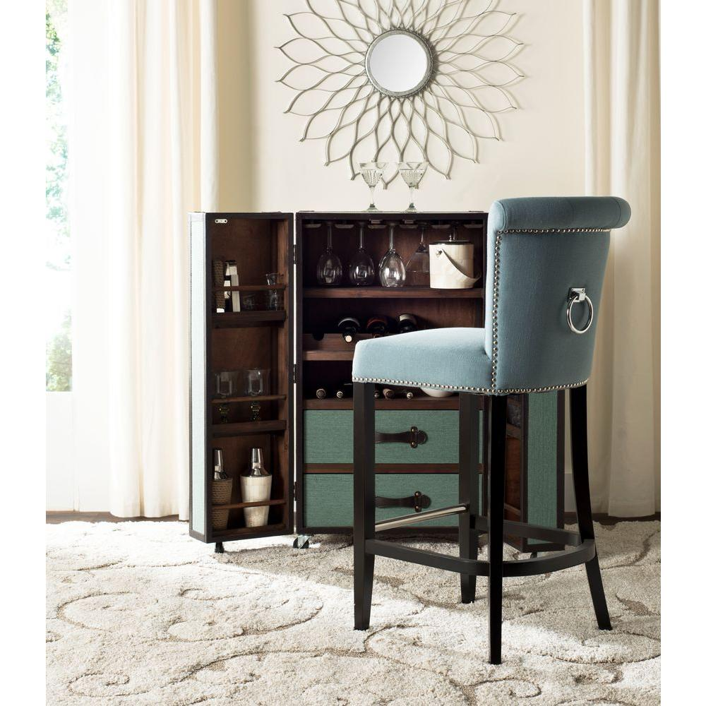 Superieur Sky Blue Cushioned Bar Stool