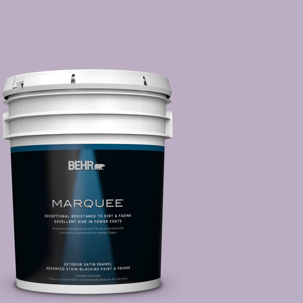 5-gal. #S100-3 Courtly Purple Satin Enamel Exterior Paint