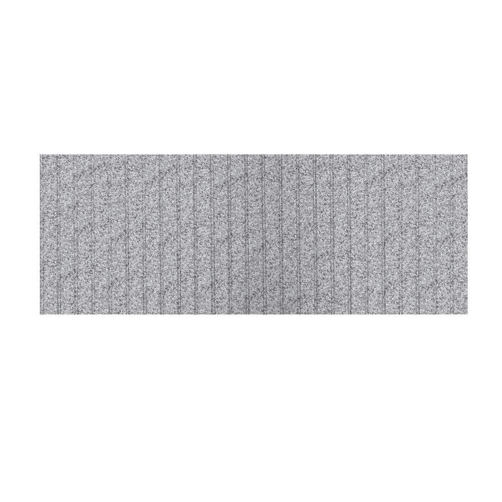 Swanstone 3 ft. x 8 ft. Beadboard One Piece Easy Up Adhesive Wainscot in Gray Granite-DISCONTINUED