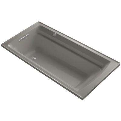 Archer 6 ft. Acrylic Rectangular Drop-in Whirlpool Bathtub in Cashmere