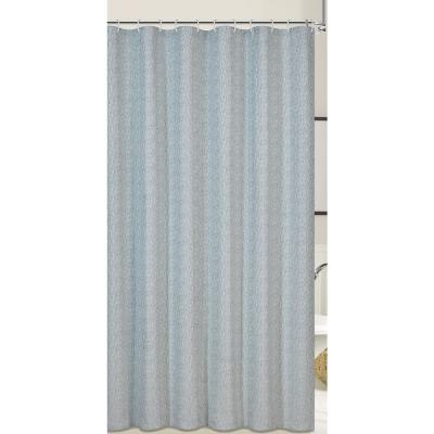 Kingston 72 in. Blue Shower Curtain