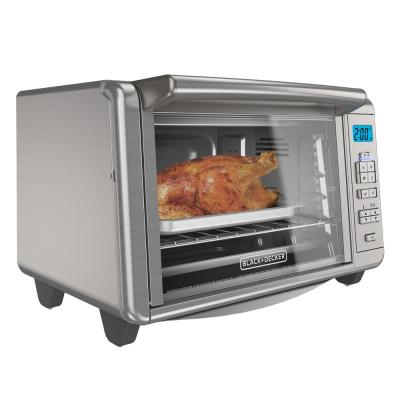BLACK+DECKER-1500 W 6-Slice Stainless Steel Countertop Toaster Oven with Built-In Timer