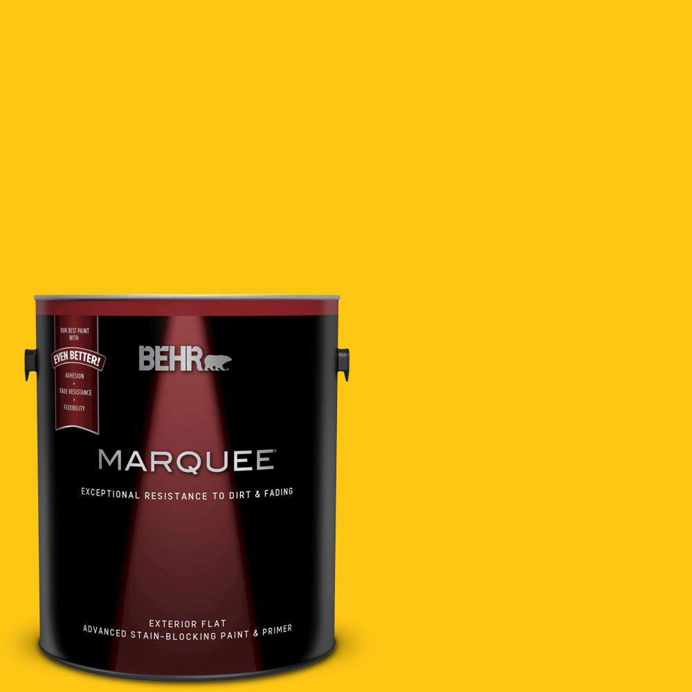 Behr Marquee 1 Gal P300 7 Unmellow Yellow Flat Exterior Paint And