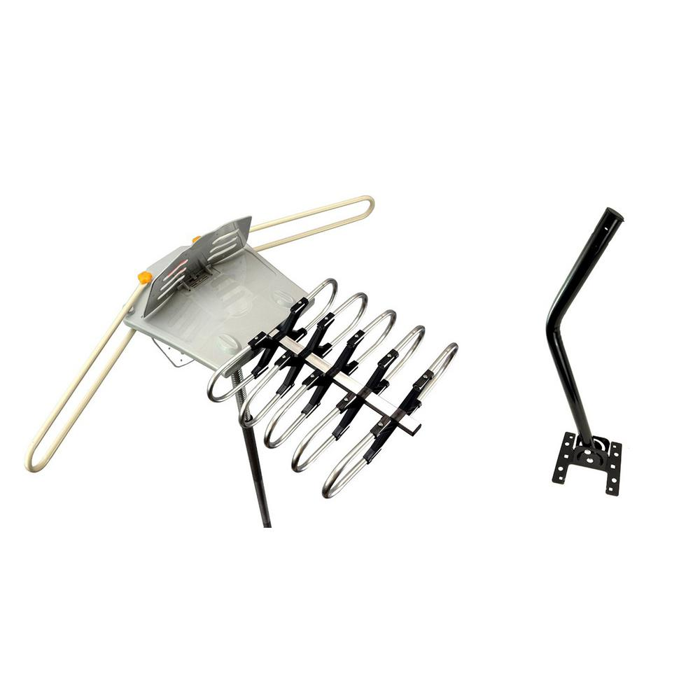 Amplified Outdoor Remote Controlled HDTV Antenna UHF VHF FM Radio 360°