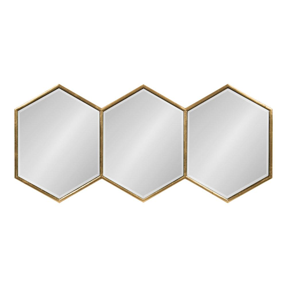 3f7d9f5fdd1 Kate and Laurel Royce Hexagon Gold Wall Mirror-214821 - The Home Depot