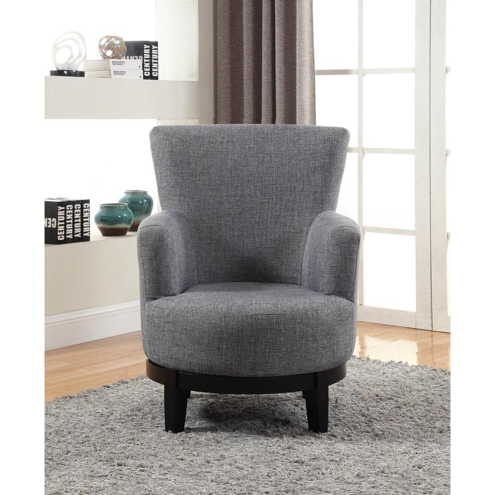 Grey Swivel Accent Chair  sc 1 st  Home Depot & Grey Swivel Accent Chair-90019-27GY - The Home Depot
