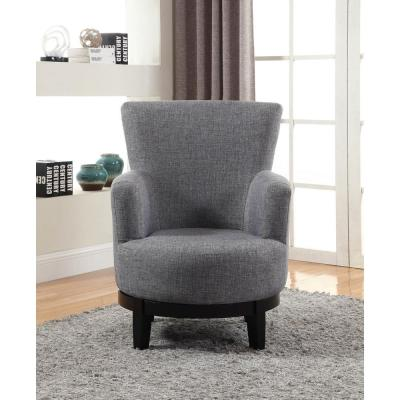 Super Swivel Gray Accent Chairs Chairs The Home Depot Inzonedesignstudio Interior Chair Design Inzonedesignstudiocom