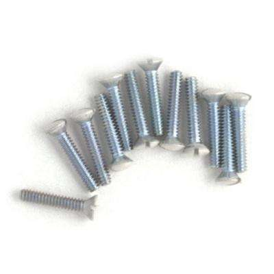 3/4 in. Wall Plate Screws - White (10-Pack)