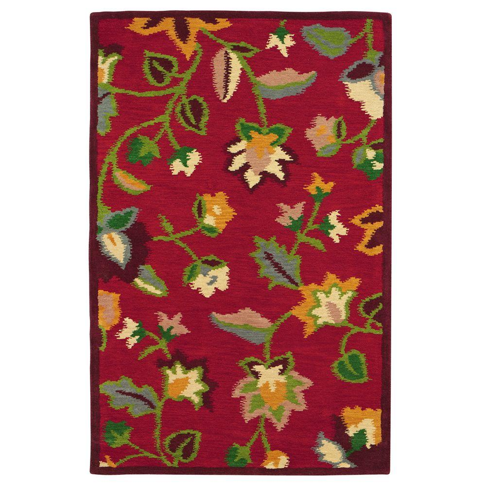 Home Decorators Collection Miranda Red 2 ft. 3 in. x 3 ft. 9 in. Area Rug