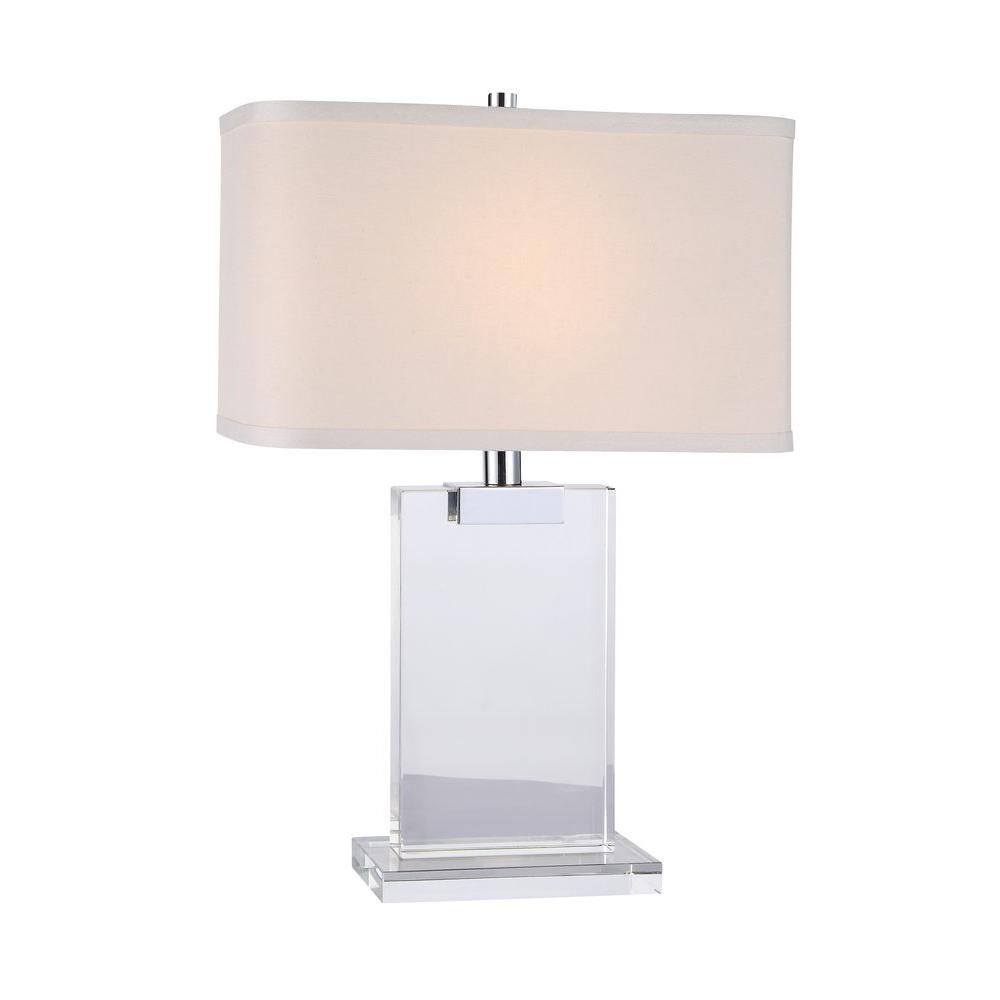 Chrome Crystal Table Lamp TL1009   The Home Depot