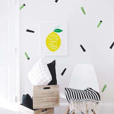 Streamers Wall Decal - Black/Grass Green