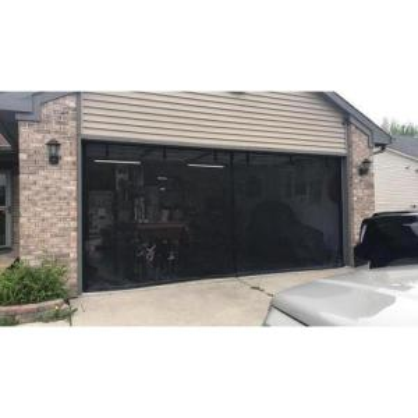 Fresh Air Screens 16 Ft X 7 Ft 3 Zipper Garage Door