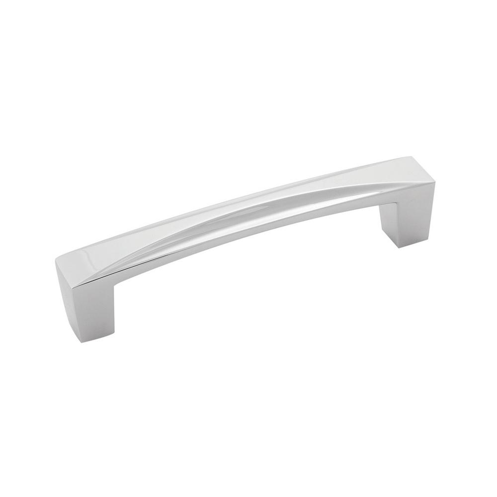Crest 3-3/4 in. 96 mm Chrome Cabinet Door/Drawer Pull