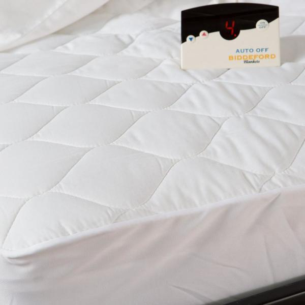 Biddeford Blankets White King Size Quilted Skirt Mattress Pad 5203
