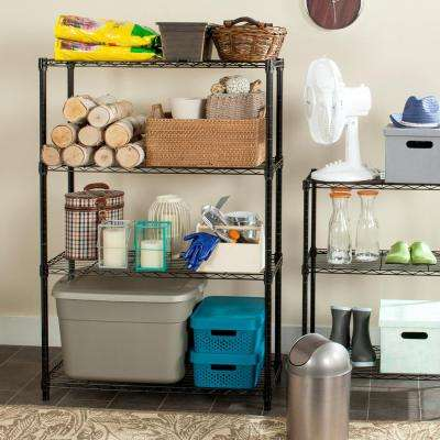 Bravo 3 Shelves Black Wire Decorative Shelving Rack