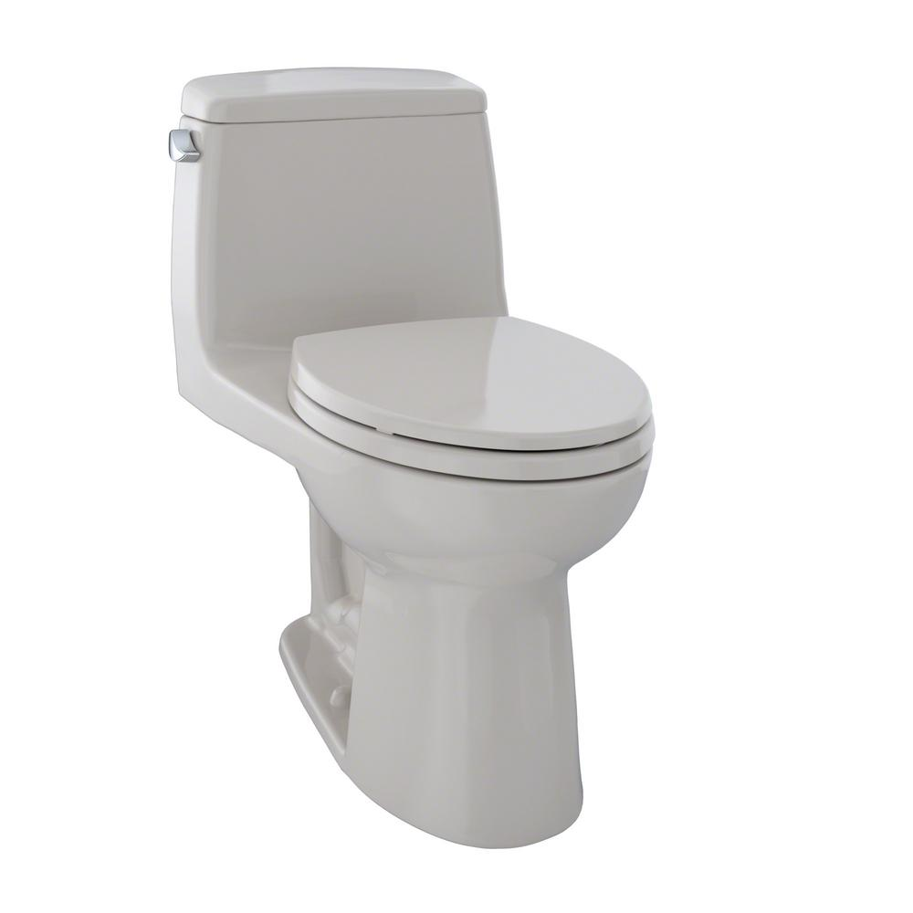 Toto Ultimate 1-Piece 1.6 GPF Single Flush Elongated Toil...