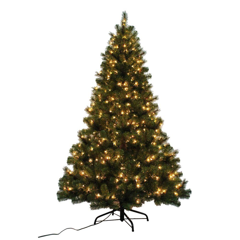 Home Accents Holiday 7 Ft Noble Fir Quick Set Artificial  - 7 Ft Artificial Christmas Trees