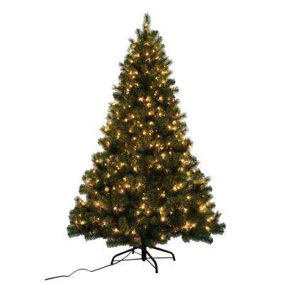 7 ft. Noble Fir Quick-Set Artificial Christmas Tree with 500 Clear Lights