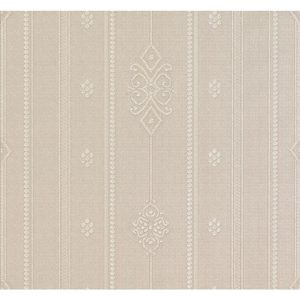 Spazio Pasquale Champagne Embellished Stripe Wallpaper