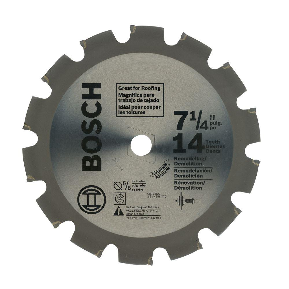 Bosch 7-1/4 in. 14 Tooth Circular Saw Blade