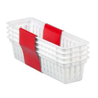 3.25 in. x 2.35 in. 4-Pack Plastic Basket