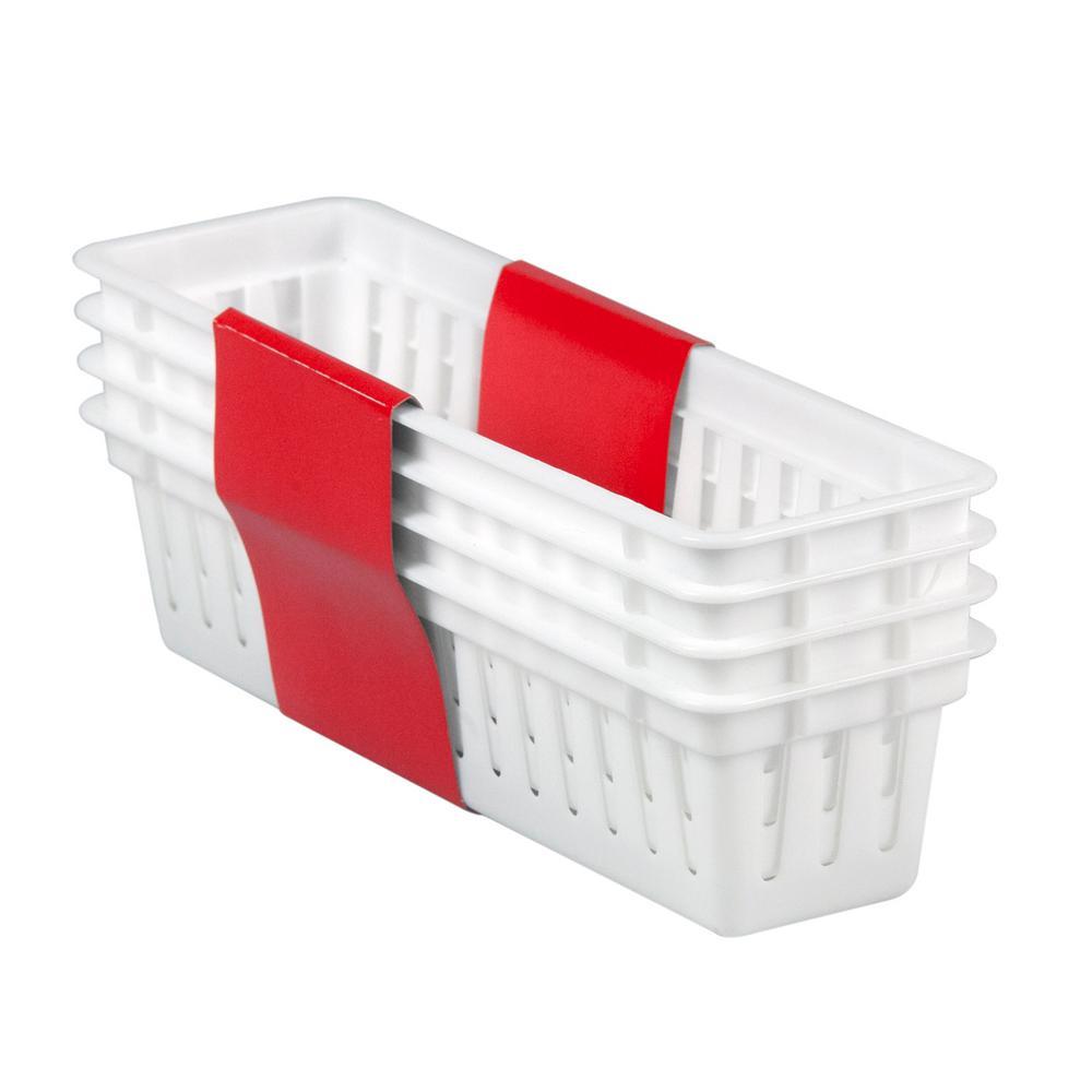 3.25 in. x 2.35 in. 4-Pack Plastic Basket